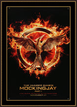 Load image into Gallery viewer, An original movie poster for The Hunger Games: Mockingjay Part 1