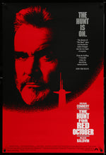 Load image into Gallery viewer, An original movie poster for the film The Hunt for Red October