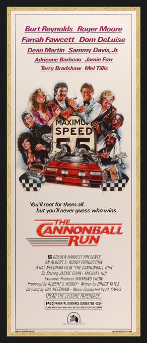 An original movie poster for the film The Cannonball Run