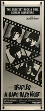 Load image into Gallery viewer, An original U.S. insert movie poster for The Beatles' movie A Hard Day's Night