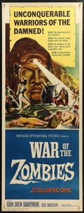 An original movie poster for the film War of the Zombies by Reynold Brown