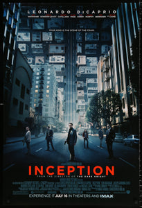An original movie poster for the film Inception