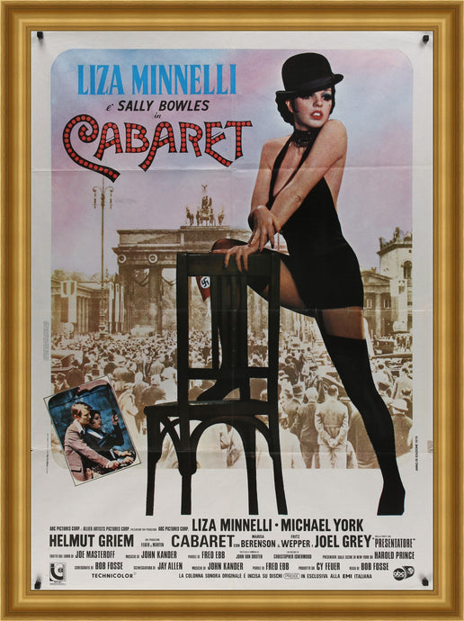 An original movie poster for the Liza Minnelli film Cabaret