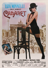 Load image into Gallery viewer, An original Italian movie poster for the film Cabaret starring Liza Minnelli