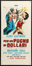 Load image into Gallery viewer, An original italian movie poster for the spaghetti western movie A Fistful of Dollars