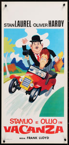 An original movie poster for the film Laurel and Hardy on Holiday