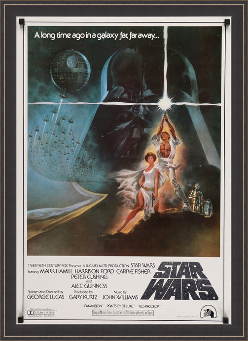 An original Japanese B2 movie poster for the film Star Wars
