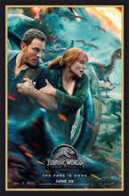 Load image into Gallery viewer, An original movie poster for the film Jurassic World Fallen Kingdom