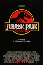 Load image into Gallery viewer, An original one sheet movie poster for the 1993 film Jurassic Park