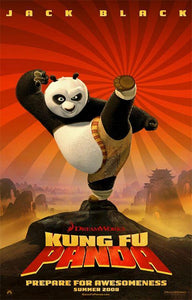 An original movie poster for the film Kung Fu Panda