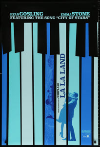 An original movie poster for the musical La La Land