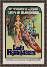 Load image into Gallery viewer, An original movie poster for the horror film Lady Frankenstein