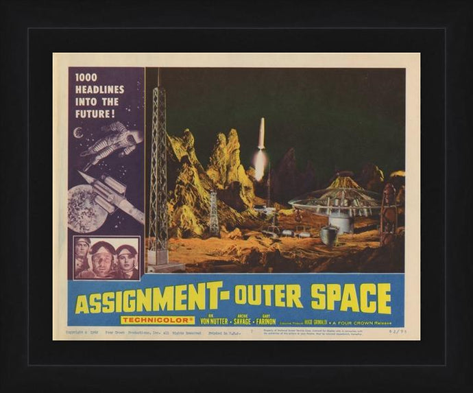 An original 11x14 Lobby Card for the film Assignment Outer Space