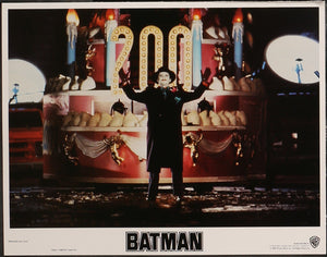 Two original lobby cards from the Tim Burton film Batman