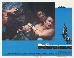 An original lobby card for the 1972 film Deliverance