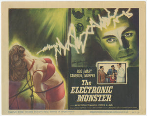 An original lobby card for the 1960 film The Electronic Monster
