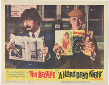 Load image into Gallery viewer, An original lobby card for the Beatles movies A Hard Day's Night