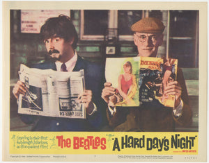 An original lobby card for the Beatles movies A Hard Day's Night