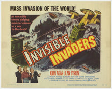 Load image into Gallery viewer, An original lobby card for the film Invisible Invaders