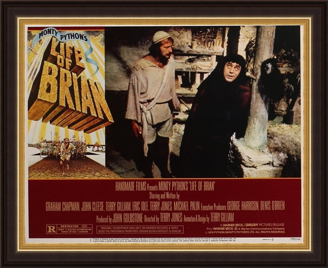 An original lobby card for the Monty Python film Life of Brian
