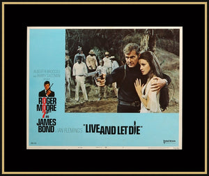 An original lobby card for the James Bond film Live and Let Die