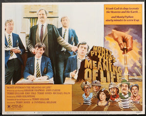 An original lobby card for the Monty Python film The Meaning of Life