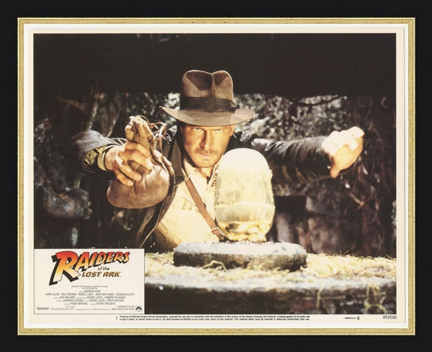 An original lobby card for the movie Raiders of the Lost Ark