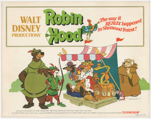 Load image into Gallery viewer, An original lobby card for the Disney movie Robin Hood