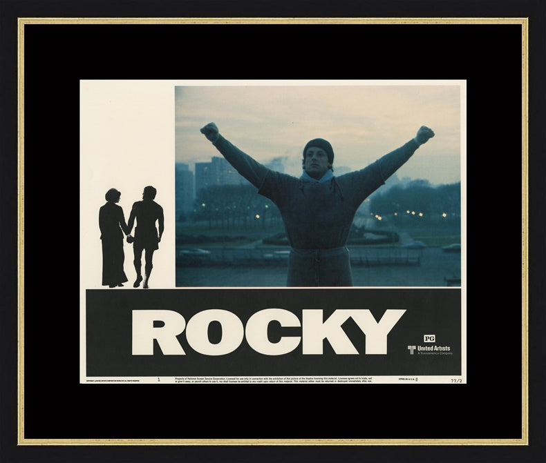 An original Lobby Card from the film / movie Rocky from 1977