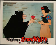 Load image into Gallery viewer, An original lobby card for the Disney movie Snow White and the Seven Dwarfs