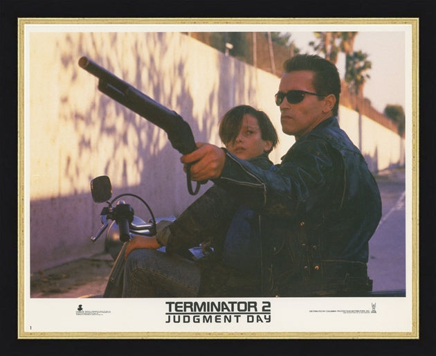 An original lobby card for the film Terminator 2 Judgement Day