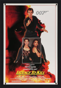 An original movie poster for the James Bond film Licence to Kill