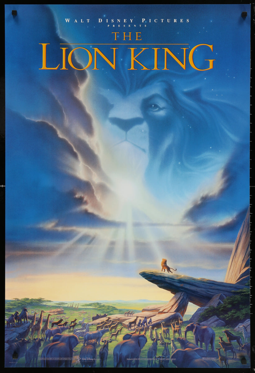 the lion king - 1994 - original movie poster