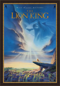 An original movie poster for the Disney film The Lion King