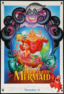 An original movie poster for the Disney film The Little Mermaid