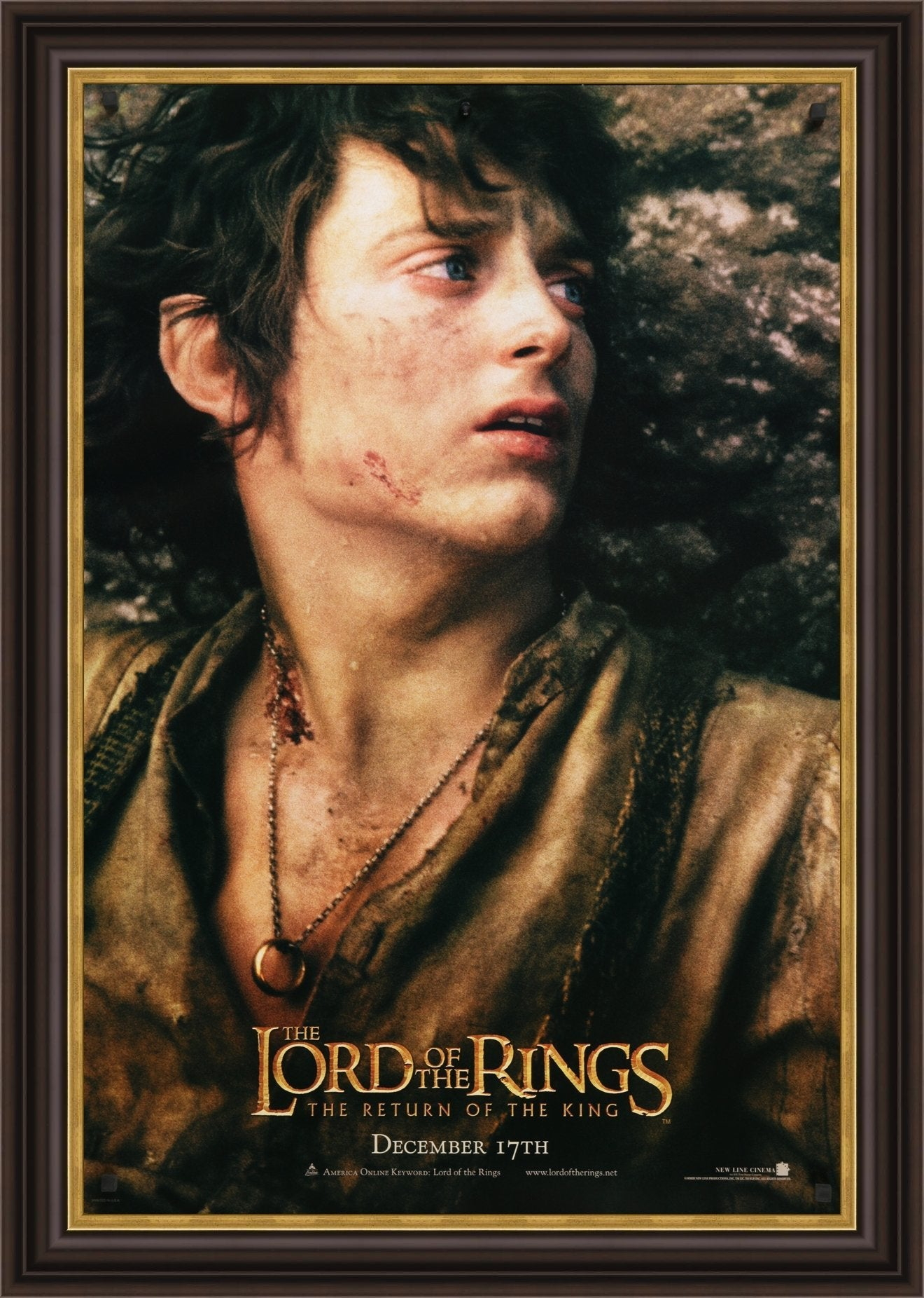 An original movie poster for the film Lord of the Rings: The Return of the King