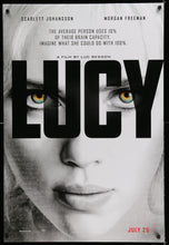 Load image into Gallery viewer, An original movie poster for the Luc Besson film Lucy