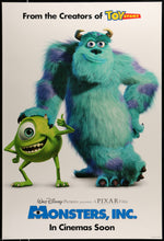 Load image into Gallery viewer, An original movie poster for Disney and Pixar's Monsters Inc