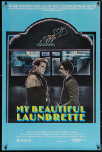 An original movie poster for the film My Beautiful Laundrette