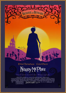 An original movie poster for Nanny McPhee