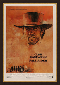 An original movie poster for the film Pale Rider
