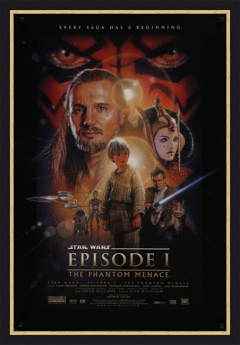 A one sheet movie poster for Star Wars The Phantom Menace