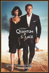 An original movie poster for the James Bond film Quantum of Solace