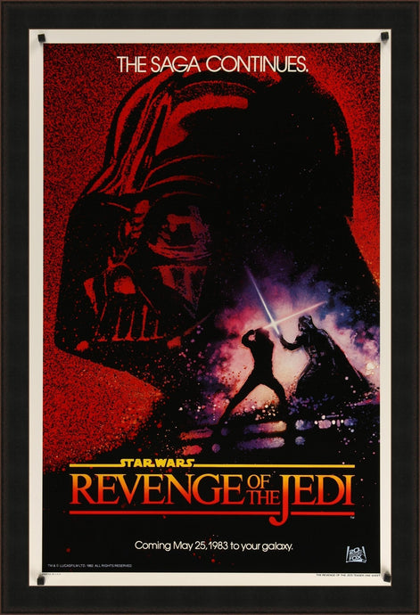An original 'Revenge' movie poster for the Star Wars film Return of the Jedi