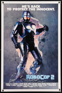 An original movie poster for the film Robocop 2