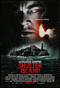 An original movie poster for the Martin Scorsese film Shutter Island