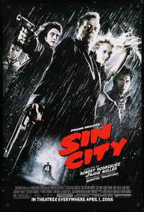 An original movie poster for the film Sin City
