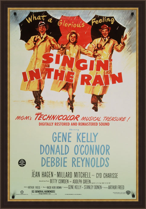 An original movie poster for the film Singing In The Rain