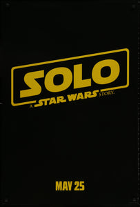 An original movie poster for Solo A Star Wars Story
