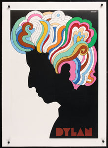 An original album insert poster from 1967 for Bob Dylan's Greatest Hits by Milton Glaser